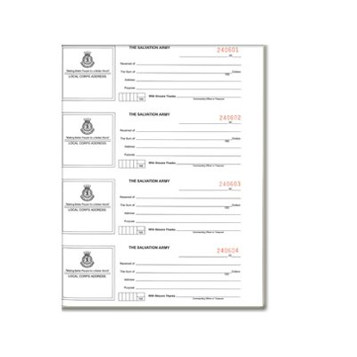 RECEIPT BOOK -PRE NUMBERED