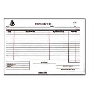 CT-1060 EXPENSE VOUCHER PAD