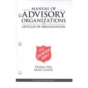 Manual of Advisory Organizations & Articles of Organization