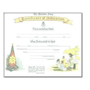 DEDICATION CERT CHILDREN / JESUS