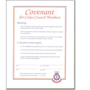 COVENANT FOR CORPS COUNCIL MBR