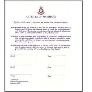 ARTICLES OF MARRIAGE
