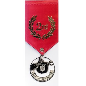 Bell Ringer Award Ribbon - 2nd Place Red
