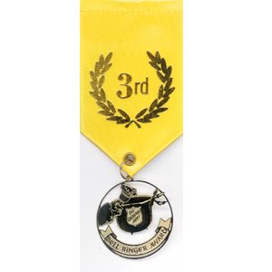 Bell Ringer Award Ribbon - 3rd Place Yellow