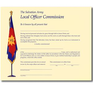 Local Officer Commission Certificate