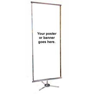 BANNER STAND DUO SPRINT W / REUSABLE KICKER (SPECIFY SIZE) DS
