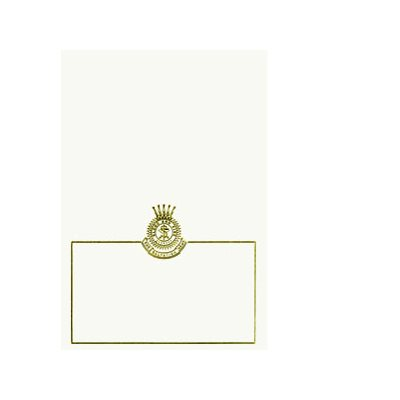 NOTE CARD GOLD FOIL CREST