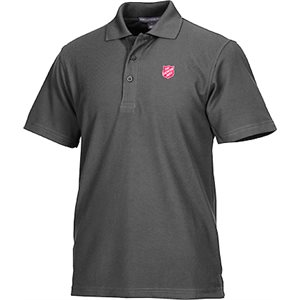 Polo Gray W Shield Mens Sm