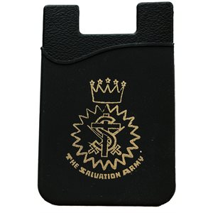 Cell phone wallet w / crest