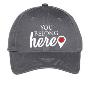 "Youth Stone Grey ""You Belong Here"" Adjustable Cap"