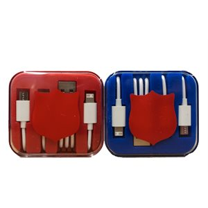 USB Charging Cables with Red Shield