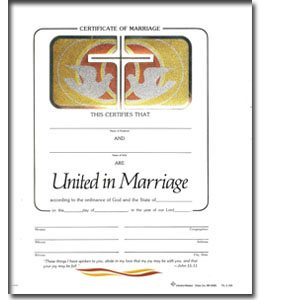 MARRIAGE CERTIFICATE (WEST)