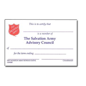 ADVISORY COUNCIL MEMBERSHIP CARD
