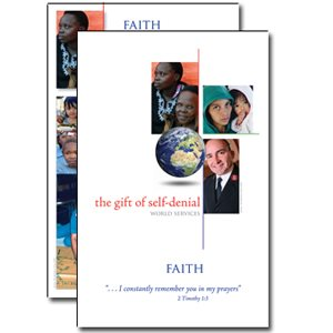 BULLETIN INSERT FAITH WORLD SERVICES 2009 / 10 DS (Pack of 50)