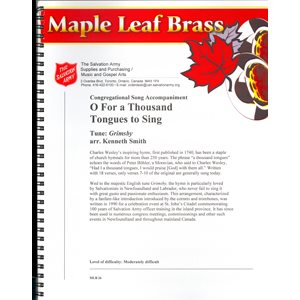 Maple Leaf Brass #26 - O For a Thousand Tongues to Sing
