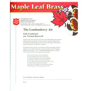 Maple Leaf Brass #27 - The Londonderry Air