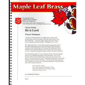 Maple Leaf Brass #29 - He is Lord