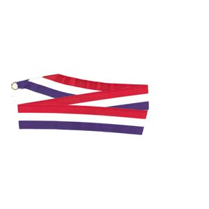 TRI COLORED NECK RIBBON R / W / B