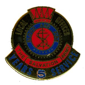 PIN LOCAL OFFICER (DHQ ONLY) 05 YR LNG SERV GO