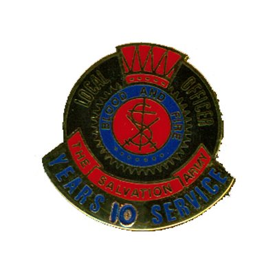 PIN LOCAL OFFICER (DHQ ONLY) 10 YR LNG SERV GO