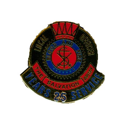 PIN LOCAL OFFICER (DHQ ONLY) 25YR LONG SERVICE