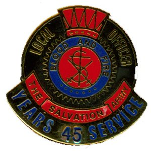 PIN LOCAL OFFICER (DHQ ONLY) 45YR LONG SERVICE