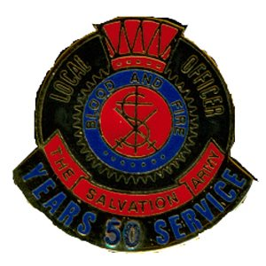 PIN LOCAL OFFICER (DHQ ONLY) 50YR LONG SERVICE