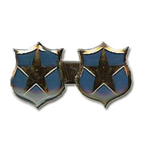 PIN SILVER 2 STAR PIN (THQ ONLY) DBL BAR / TWO STARS