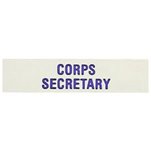 Local Officer Pin: Corps Secretary