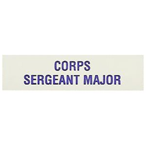 Local Officer Pin: Corps Sergeant Major