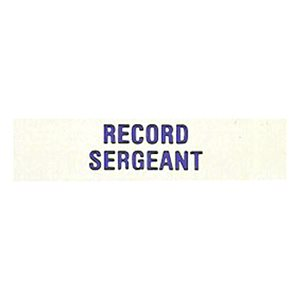 Local Officer Pin: Record Sergeant