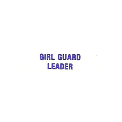 L O  GIRL GUARD LEADER