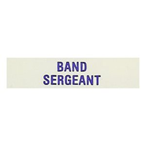 Local Officer Pin: Band Sergeant
