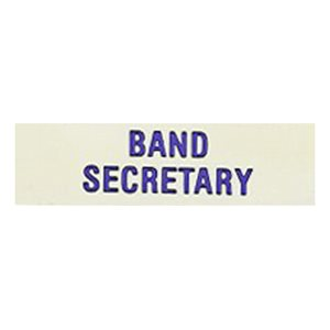 Local Officer Pin: Band Secretary