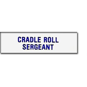 Local Officer Pin: Cradle Roll Sergeant