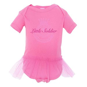 "Girls Onesie ""Little Soldier"" (Pink)"