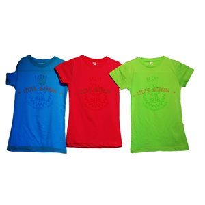 Girls Little Soldier LIME Tee Youth