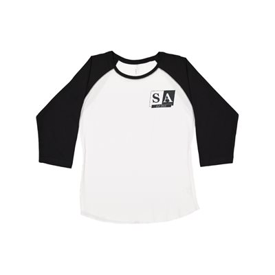 Ladies SA White / Blk Sleeve Jersey Med