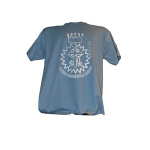Stonewashed Blue Tee with Crest