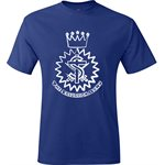 Deep Royal Blue T-Shirt with Crest