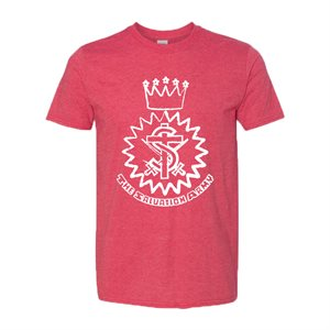 Heather Red T-shirt with Crest