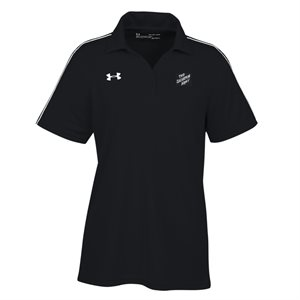 Ua Ladies Tech Polo Black with The Salvation Army