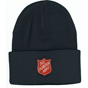 Hat Knit Navy with Shield