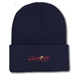 Hat Knit Navy with Cross The Salvation Army