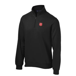 Black 1 / 4 Zip Sweatshirt with Shield