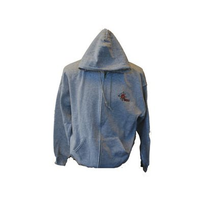 Zip up Ash grey Hoodie, w / TSAO