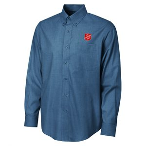 Shirt Texture Deep Blue with Shield Men