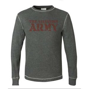 Grey Long Sleeve Thermal Shirt with The Salvation Army Bold Imprint