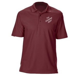 Men's Maroon Polo Shirt with The Salvation Army Embroidery