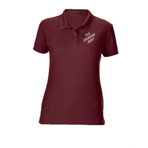 Ladies Maroon Polo Shirt with The Salvation Army Embroidery